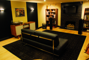 Magnolia Media Room with Stereo Home Theater, Music System and Jam Space