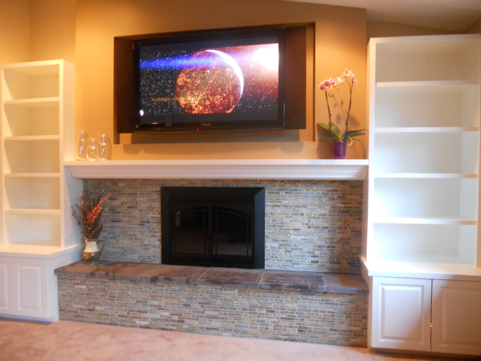 Everett Fireplace Home Theater Design