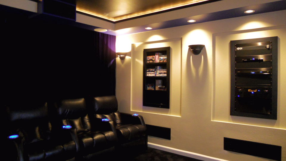 bedroom home theater transformation in auburn wa by theater design northwest - Home Theatre Designs