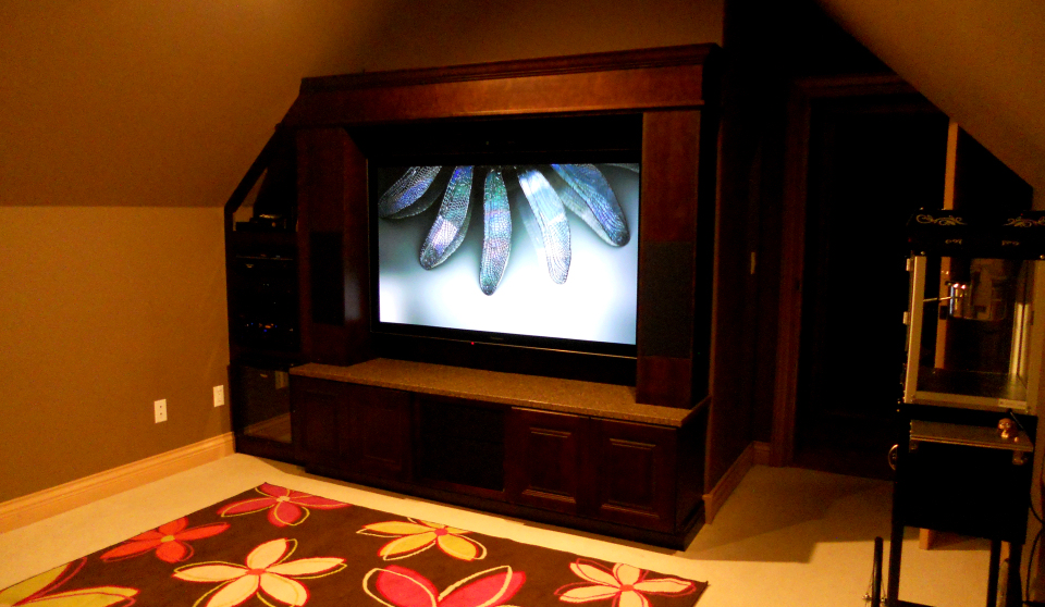 Semiahmoo high end 3d media room design by theater design for What is a media room