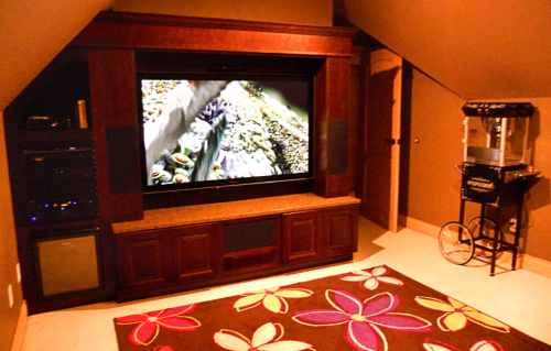 high end THX Certified media room by Theater Design Northwest