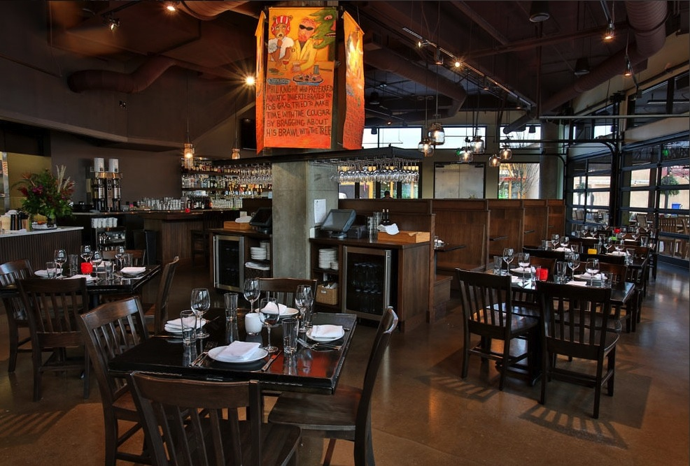 Liams bistro in u village seattle theater design northwest in a well designed system jbl pendants provide excellent coverage in high ceiling spaces and are mozeypictures Gallery