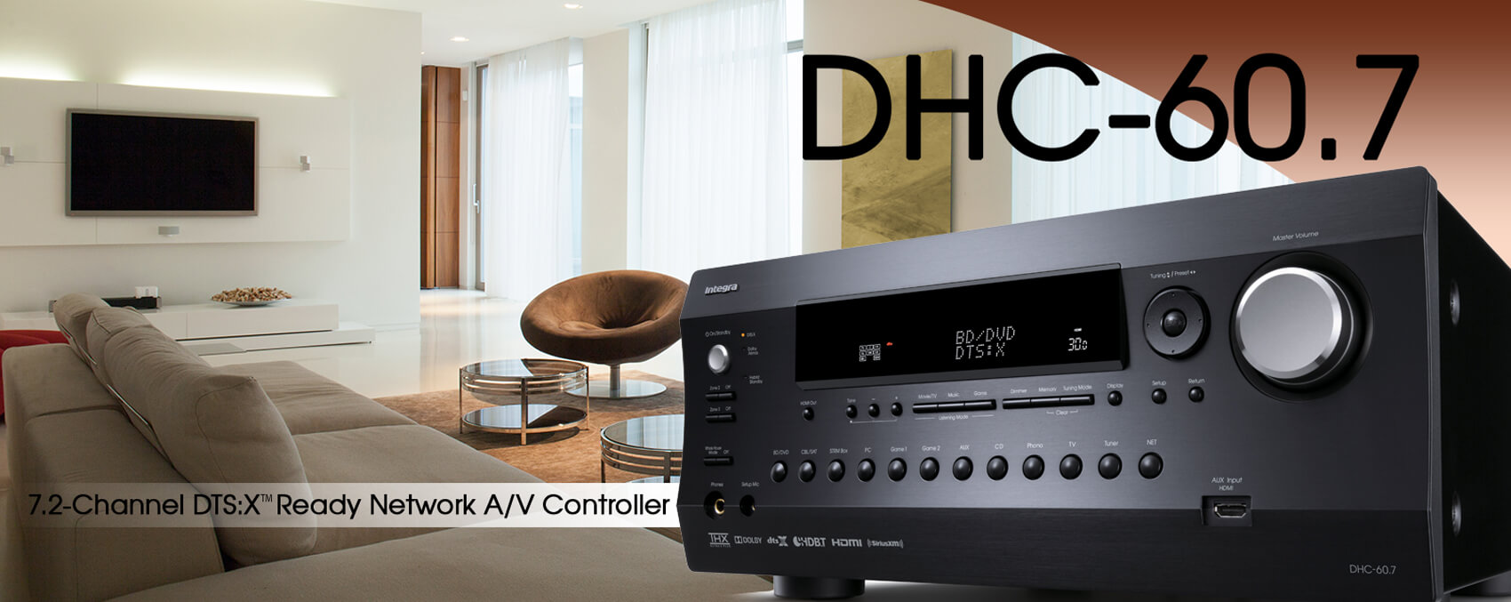 AV receiver, home theater receiver, home theater design, Integra, Theater Design Northwest