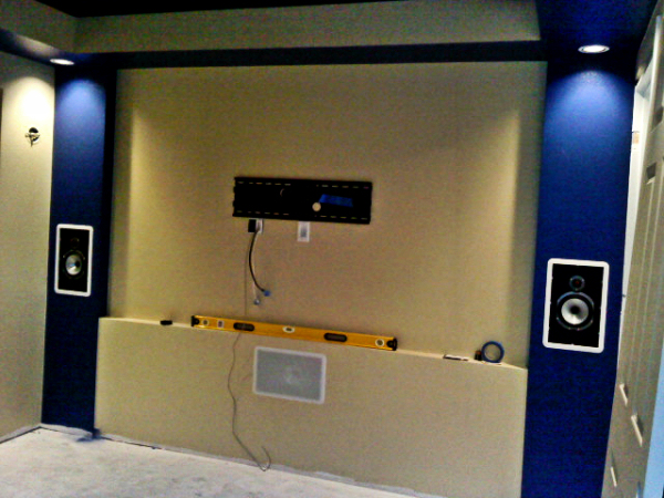 Puyallup, WA home theater front screen wall