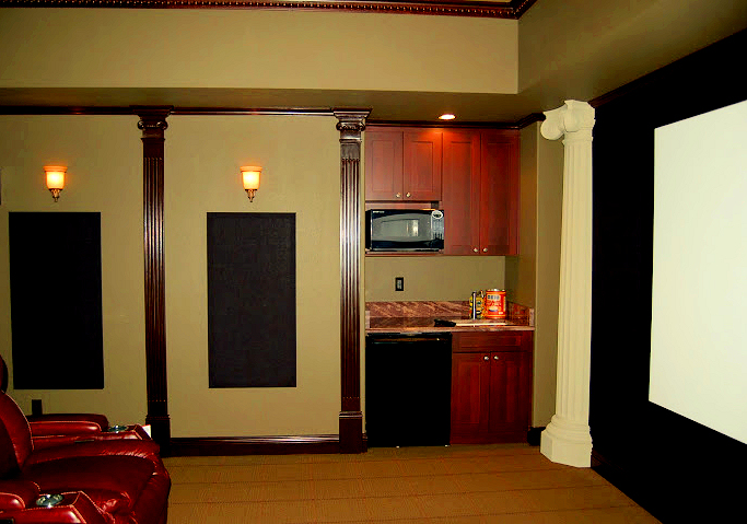 Home theater snack bar ideas