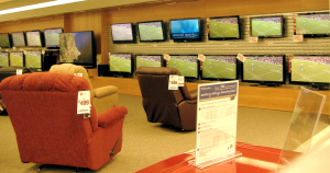 A 27 HDTV display wall by theater design northwest