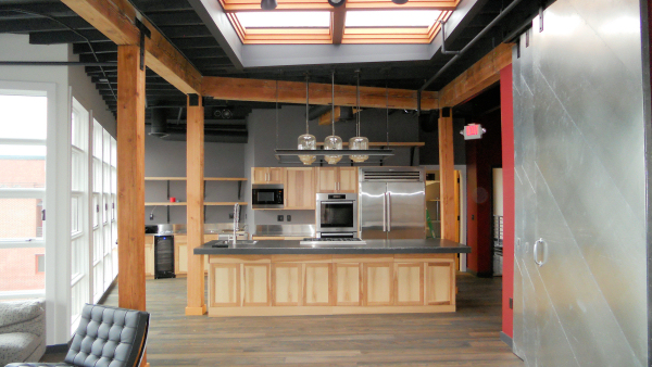 Gourmet kitchen with Monitor Audio Gold speakers