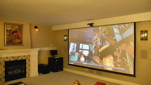 Family room home theater design